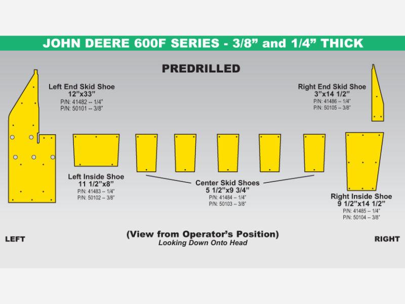 John Deere 600F Skid Shoe Sets