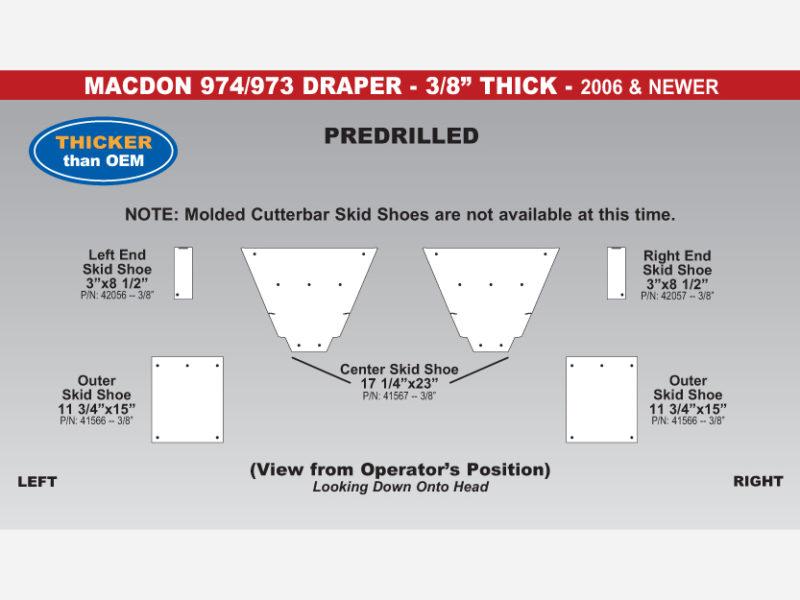 974 Draper Skid Shoe Sets - 2006 & Newer