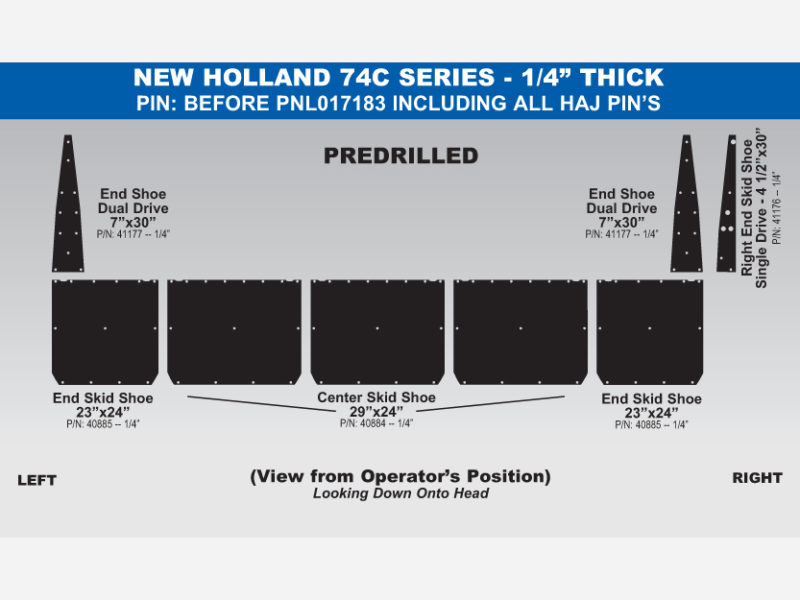 NH 74C Skid Shoe Sets - PIN: Before PNL017183, ALL HAJ PINs