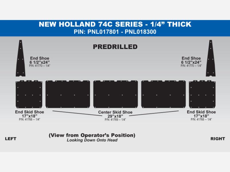 NH 74C Skid Shoe Sets - PIN: PNL017801 - PNL018300