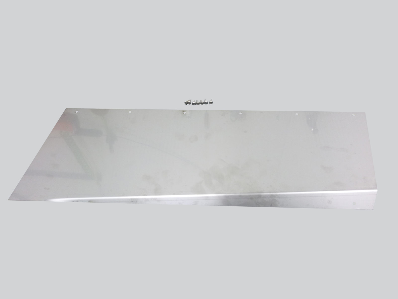 Right Center Back Stainless Steel Wear Plate (all row spacing)